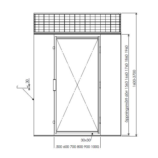 Illustration pulterrum G550 pladevæg